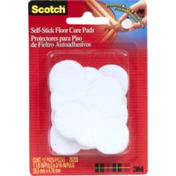 3M Scotch Felt Pads - Round White 1 1/8 in, 12/pk
