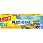Glad Flex'n Seal Quart Food Storage Bags