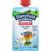 Stonyfield Organic Pear Spinach Mango Whole Milk Yogurt