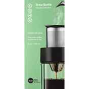 SOMA Brew Bottle, Double-Wall Glass, 12 Ounce