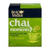Tea India Chai Moments Chai Tea Latte Mix Cardamom - 10 CT
