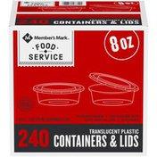 Member's Mark Translucent Plastic Containers & Lids