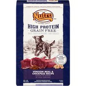 NUTRO Adult High Protein Grain Free Venison Meal & Chickpeas Recipe Dog Food