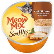 Meow Mix Souffles with Real Chicken Egg and Garden Vegetables Wet Cat Food