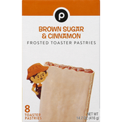 Publix Toaster Pastries, Brown Sugar & Cinnamon, Frosted
