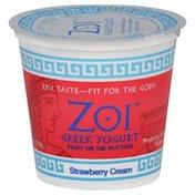 Zoi Greek Yogurt Yogurt, Greek, Fruit on the Bottom, Strawberry Cream