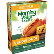 Morning Star Farms Meatless Hot Dogs, Plant Based Protein, Original