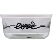 Pyrex Storage Container, Glass, 4 Cup
