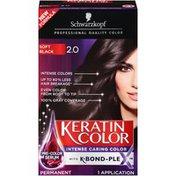 Schwarzkopf Permanent Hair Color Cream, 2.0 Soft Black