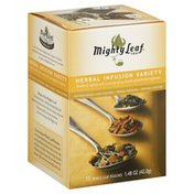 Mighty Leaf Tea, Herbal Infusion Variety, Whole Leaf Pouches