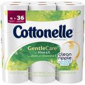 Cottonelle Gentle Care Aloe & E Double Rolls Toilet Paper