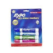 Expo Markers, Dry Erase, Low Odor, Chisel Tip, Tropical Tones