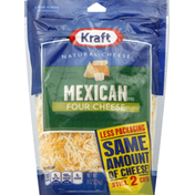 Kraft Finely Shredded Cheese, Four Cheese, Mexican Style