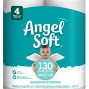 Angel Soft Bathroom Tissue, Unscented, Regular Rolls, 2-Ply