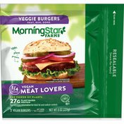 Morning Star Farms Veggie Burgers, Plant Based Protein Vegan Meat, Meat Lovers