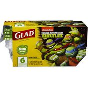 Glad Nickelodeon Teenage Mutant Ninja Turtles Mini Round Containers