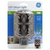GE Decor Light, LED, Brushed Nickel, Soft White