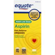 Equate Aspirin, 81 mg, Adult Low Dose, Tablets