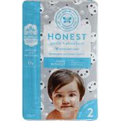 The Honest Company Diapers, Pandas, 2 (12-18 Pounds)