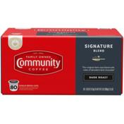 Community Coffee Signature Blend Dark Roast Coffee Single Serve Cups