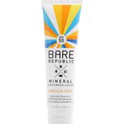Bare Republic Sunscreen Lotion, Mineral, Vanilla-Coco, Broad Spectrum SPF 50