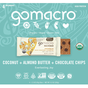 GoMacro Macrobars, Coconut + Almond Butter + Chocolate Chips