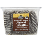 First Street Almond Biscotti, Chocolate Dipped