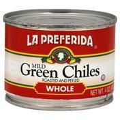La Preferida Green Chiles, Whole, Mild
