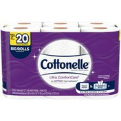 Cottonelle Ultra CleanCare Toilet Paper, Strong Bath Tissue, Septic-Safe, 12 Big Rolls