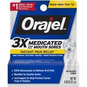 Orajel 3x Medicated Mouth Sores Instant Orajel 3x Medicated Mouth Sores Instant Pain Relief Gel