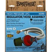 Bayou Classic Regulator/Hose Assembly, High Pressure LPG