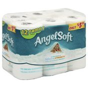 Angel Soft Bathroom Tissue, Unscented, Family Rolls, 2-Ply