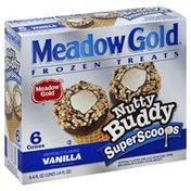Meadow Gold Frozen Treats, Nutty Buddy Super Scoops, Vanilla