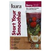 Kura Smoothie Powder, New Zealand Protein, Berry