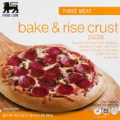 Food Lion Pizza, Bake & Rise Crust, Three Meat, Box