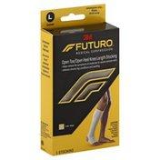 FUTURO Stocking, Open Toe/Open Heel, Unisex, Knee Length, L, Beige