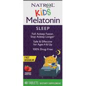 Natrol Melatonin Sleep, Fast Dissolve, Tablets, Strawberry, Kids