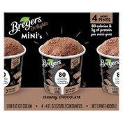 Breyers Low Fat Ice Cream Creamy Chocolate Mini-pints