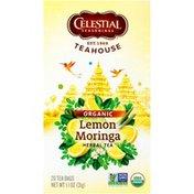 Celestial Seasonings Teahouse Organic Lemon Moringa Herbal Tea Bags