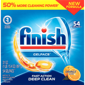 Finish Automatic Dishwasher Detergent, Orange Scent