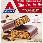 Atkins Protein-Rich Meal Bar Chocolate Peanut Butter Bar - 5 CT