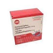 Life Brand 325mg Acetaminophen Liquid Gels