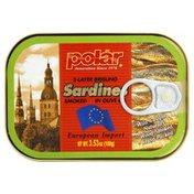 Polar Sardines, 2-Layer Brisling, Smoked, in Olive