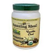 Amazing Grass Amazing Meal Added Protein Sprouted Quinoa, Pumpkin Seed, Brown Rice & Hemp, 5 Billion Probiotics To Support Healthy Digestion, Greens & Superfoods Raw, Plant-based Nutritional Supplement Powder, Vanilla Chai