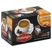 Indulgio Cappuccino Mix, Sweet & Salty Caramel, Single Serve Brew Cups