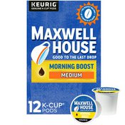 Maxwell House Morning Boost Medium Roast K-Cup® Coffee Pods with a Boost of Caffeine
