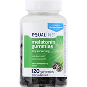 Equaline Melatonin, Gummies, Natural Blackberry