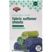 Hannaford Mountain Fresh Fabric Softener Sheets