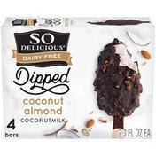 So Delicious Dairy Free Dipped Coconut Almond Coconutmilk Frozen Dessert Bars