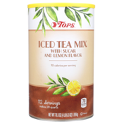 Tops Iced Tea Mix With Sugar And Lemon Flavor